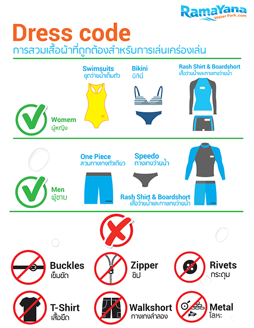 Dress Code on Swimming Pool Safety Rules